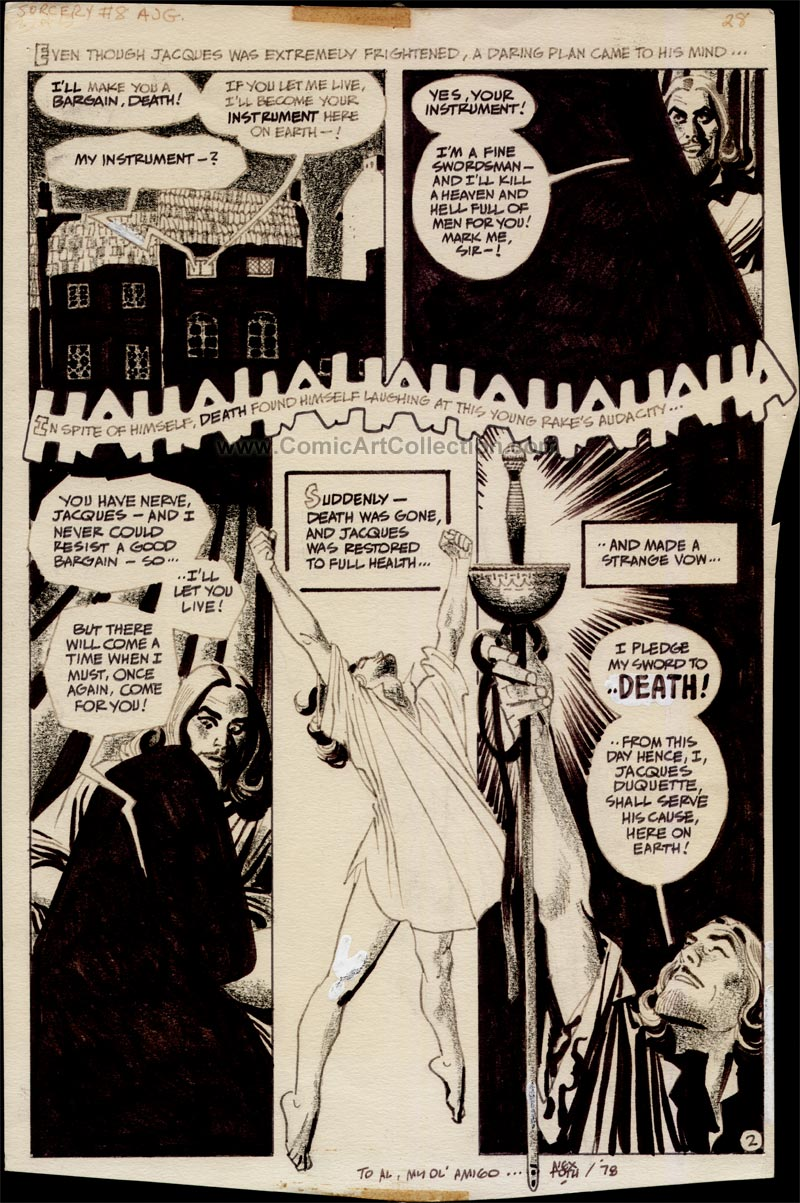 Red Circle Sorcery #8: The Man Who Tried To Kill Death page 2 by Alex Toth