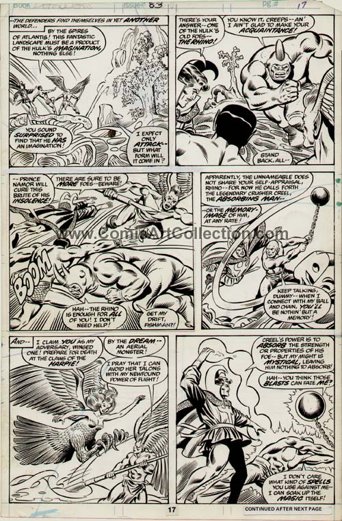 Defenders #83 page 17 by Don Perlin / Joe Sinnott
