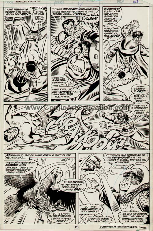 Defenders #83 page 23 by Don Perlin / Joe Sinnott