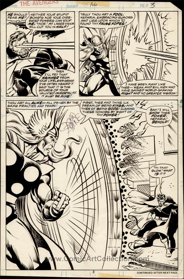 Avengers #166 page 3 by John Byrne / Pablo Marcos