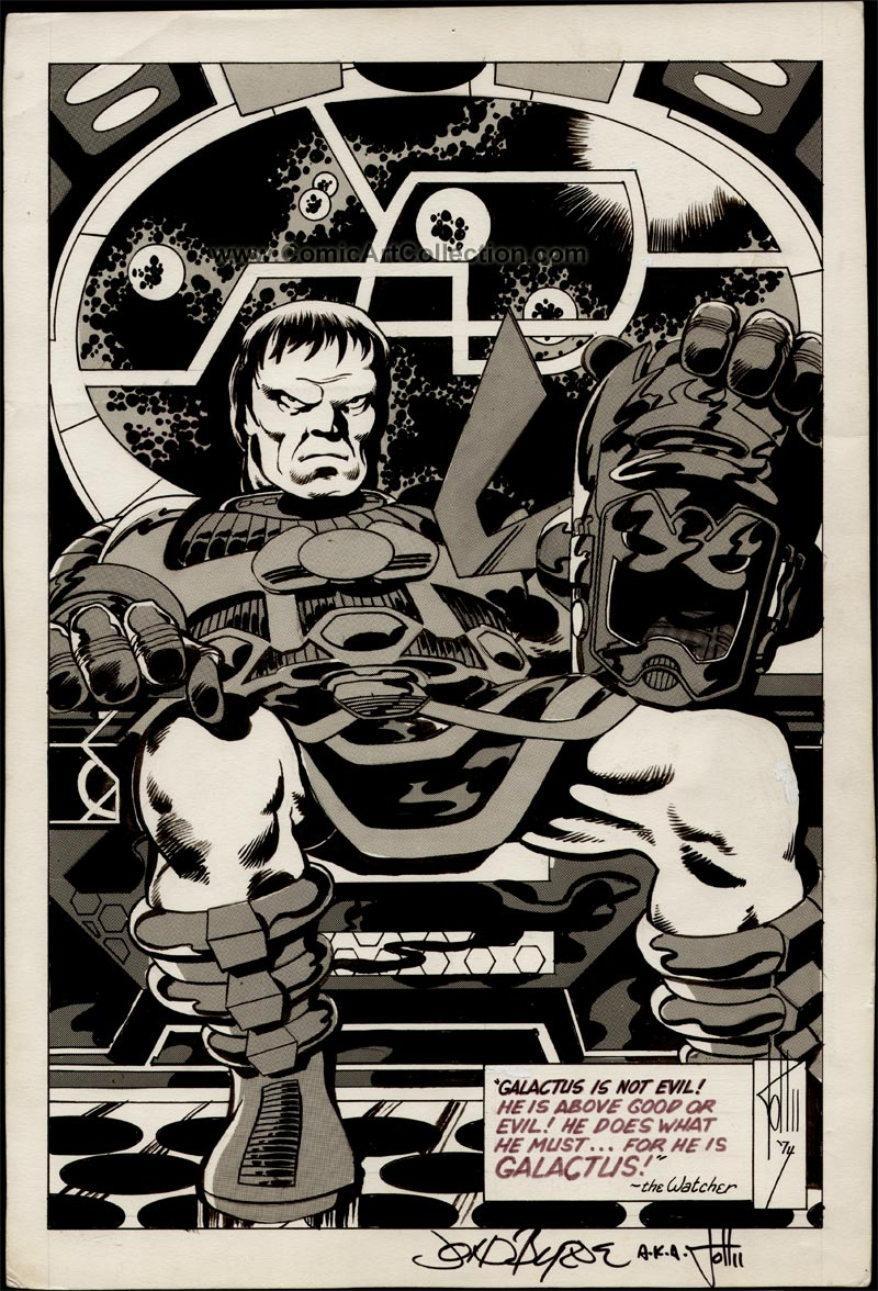CPL #11 page 13 - Galactus Pin-Up by John Byrne