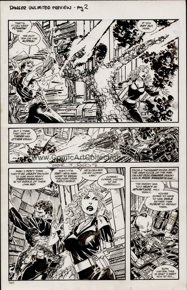 San Diego Comic-Con Comics #2: Danger Unlimited Preview page 2 by John Byrne