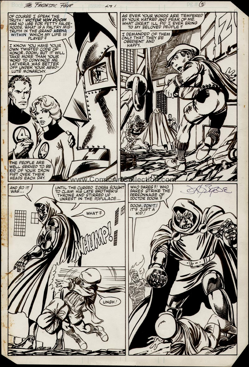 Fantastic Four #247 page 4 by John Byrne
