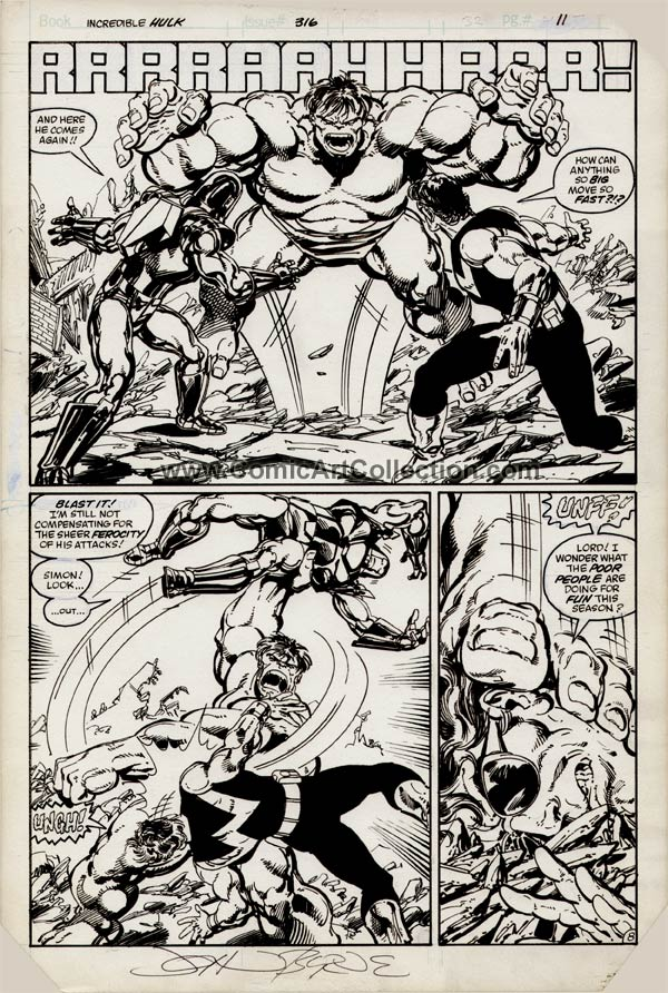 Incredible Hulk #316 page 8 by John Byrne / Keith Williams