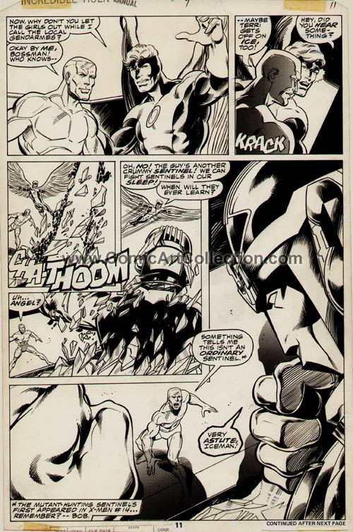 Incredible Hulk Annual #7 page 11 by John Byrne / Bob Layton