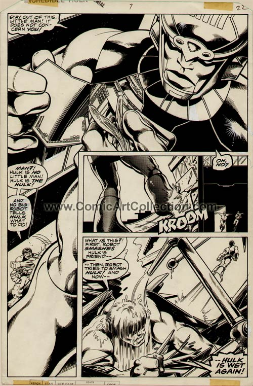 Incredible Hulk Annual #7 page 22 by John Byrne / Bob Layton