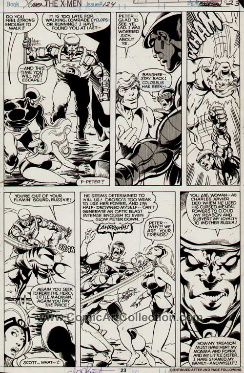 Uncanny X-Men #124 page 23 by John Byrne / Terry Austin