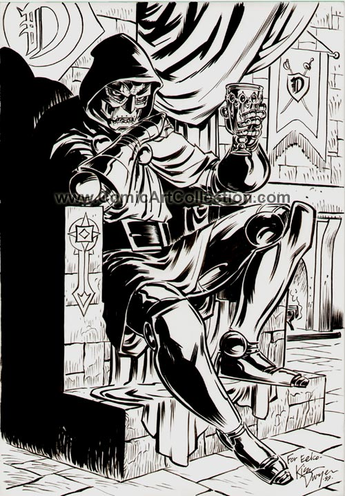 Dr. Doom commission by Kieron Dwyer