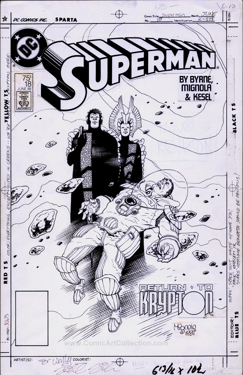Superman #18 Cover by Mike Mignola