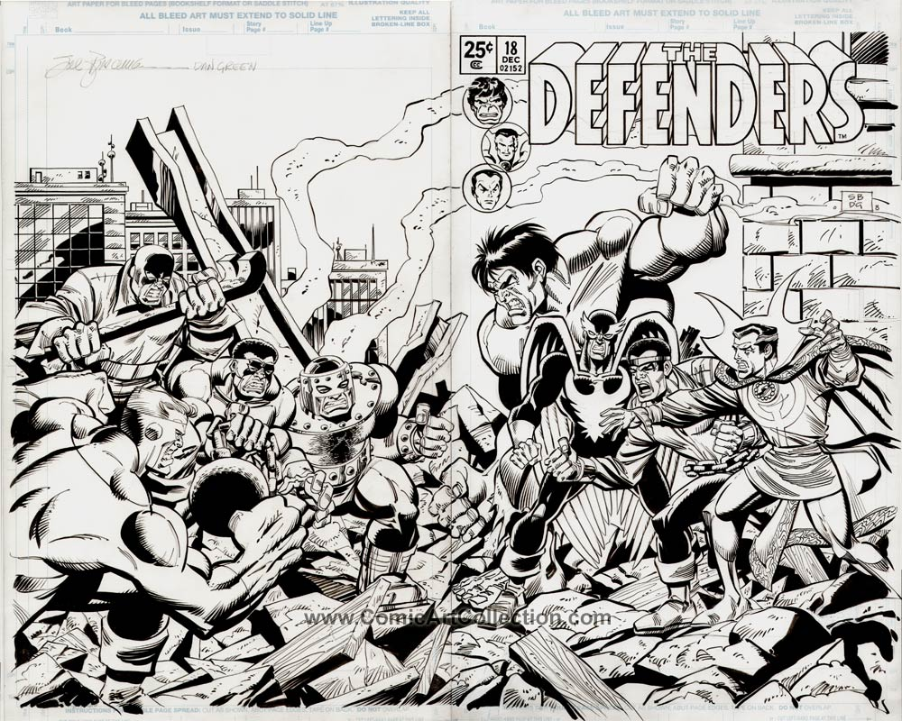Defenders #18 Cover Commission by Sal Buscema / Dan Green