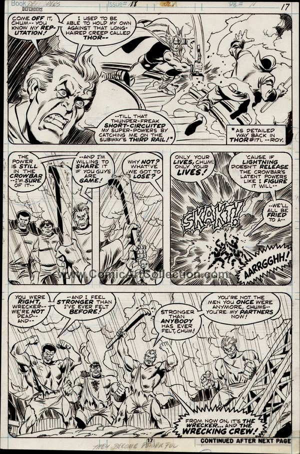 Defenders #18 page 17 by Sal Buscema and Dan Green