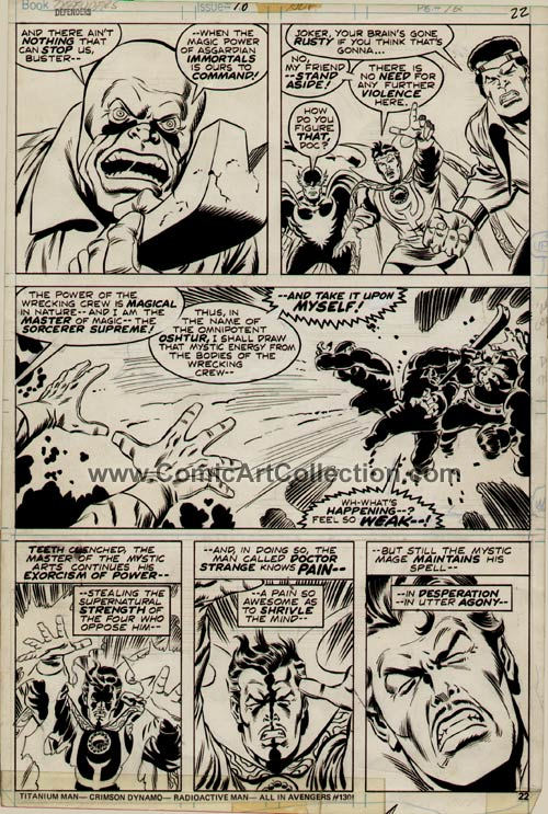 Defenders #18 page 22 by Sal Buscema / Dan Green