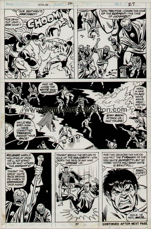 Defenders #22 page 27 by Sal Buscema / Mike Esposito