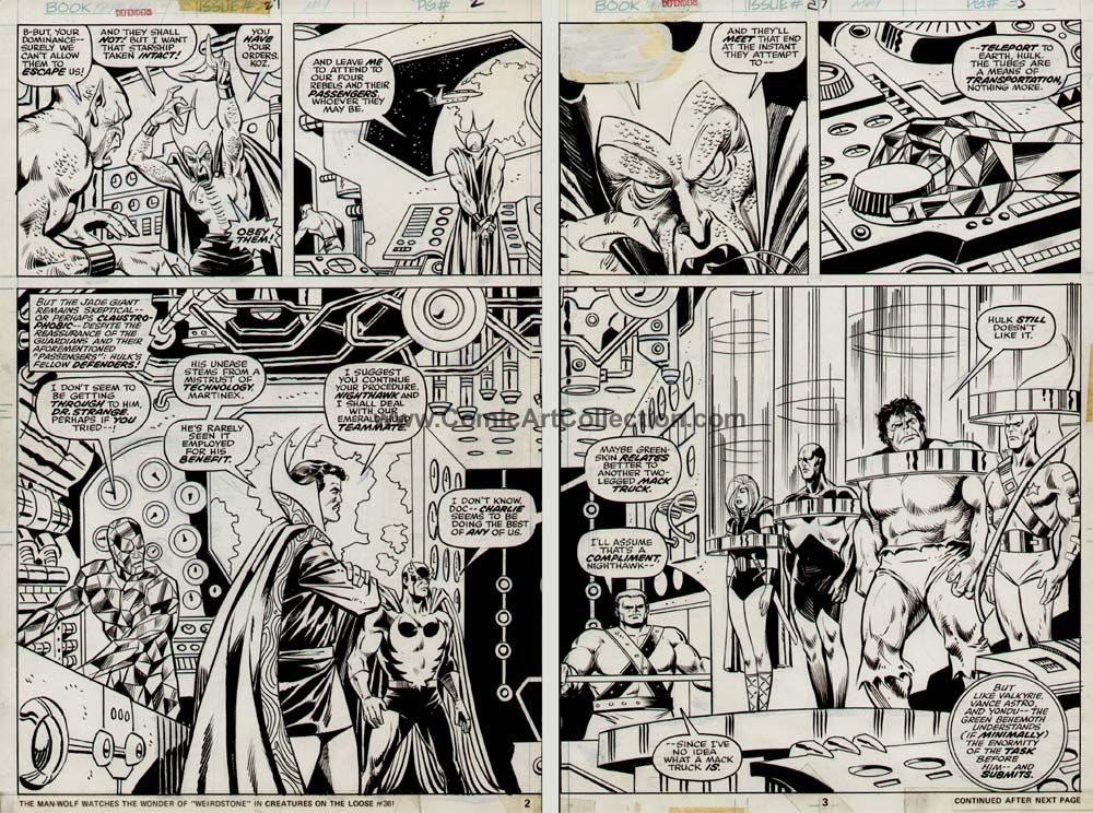 Defenders #27 pages 2-3 DPS by Sal Buscema / Vince Colletta