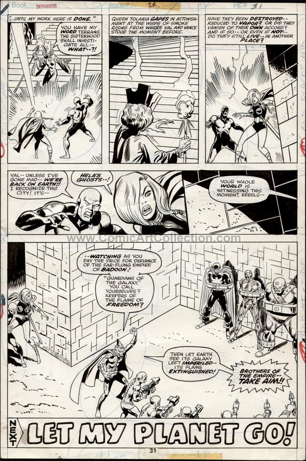 Defenders #28 page 31 by Sal Buscema / Frank Giacoia and/or John Tartag