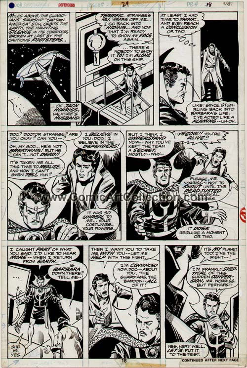Defenders #29 page 18 by Sal Buscema / Vince Colletta
