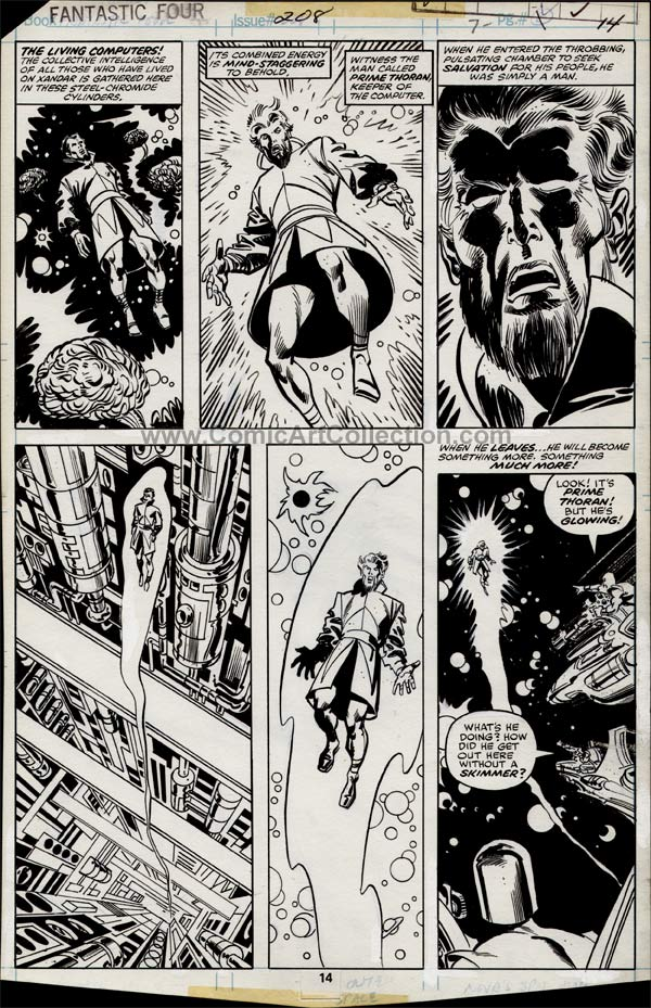 Fantastic Four #208 page 14 by Sal Buscema, Frank Springer and Frank Giacoia (?) / Al Milgrom (?)