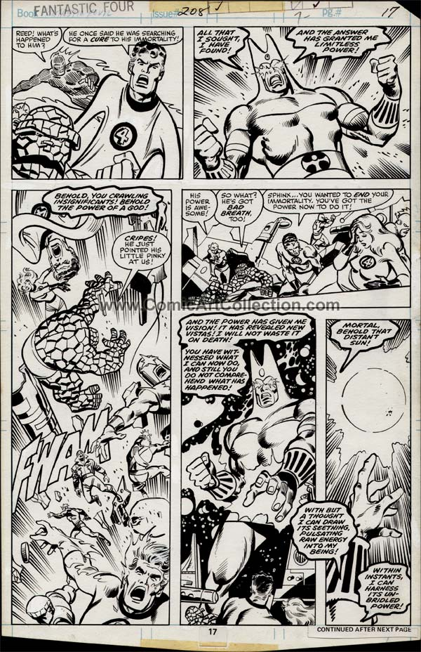 Fantastic Four #208 page 17 by Sal Buscema, Frank Springer and Frank Giacoia (?) / Al Milgrom (?)