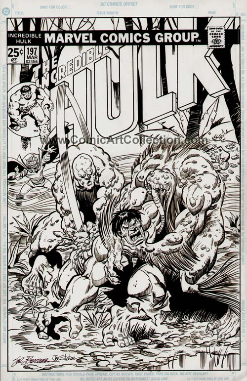 Incredible Hulk #197 Cover Commission by Sal Buscema / Joe Staton