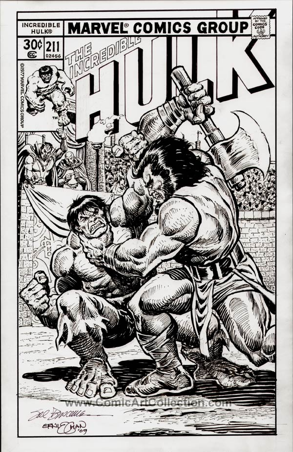 Incredible Hulk #211 Cover Commission by Sal Buscema and Ernie Chan