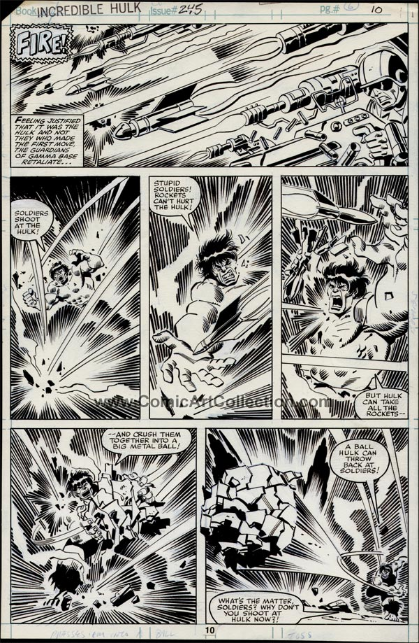 Incredible Hulk #245 page 10 by Sal Buscema