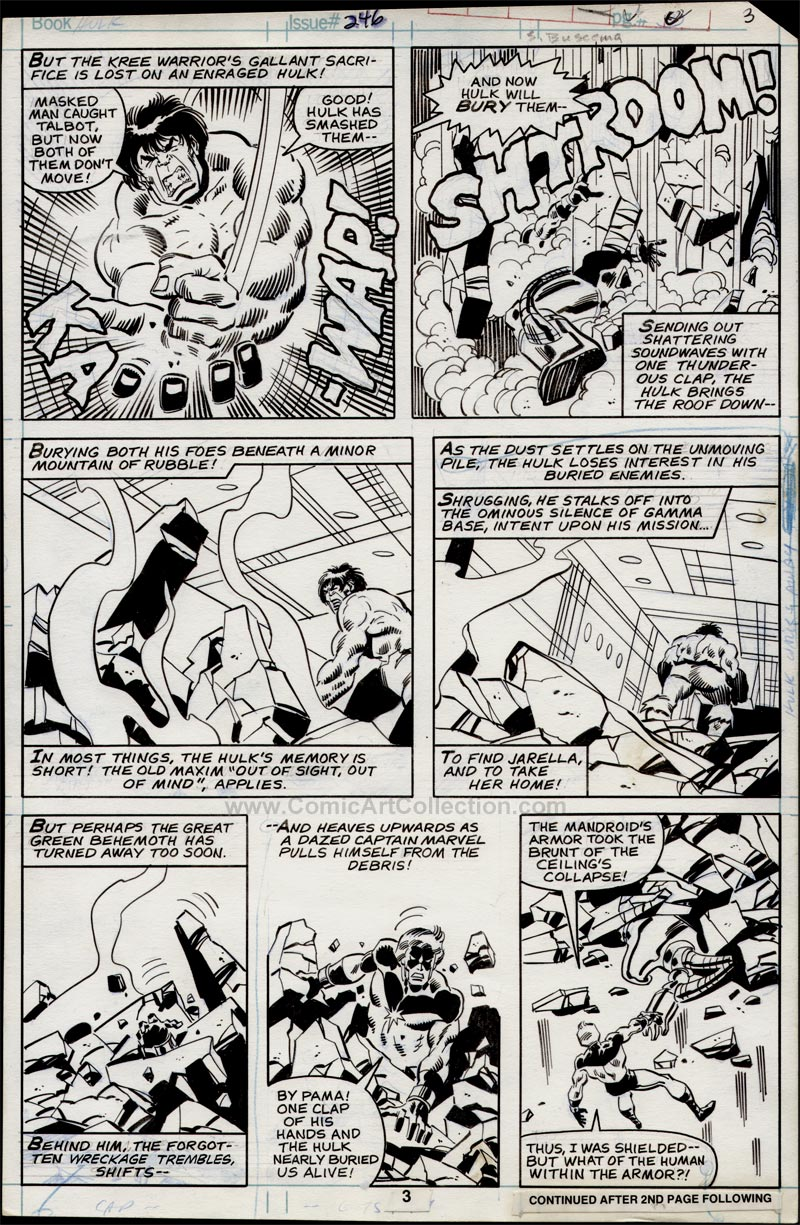 Incredible Hulk #246 page 3 by Sal Buscema