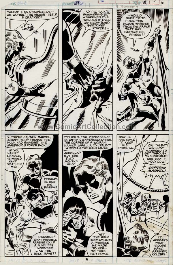 Incredible Hulk #246 page 6 by Sal Buscema