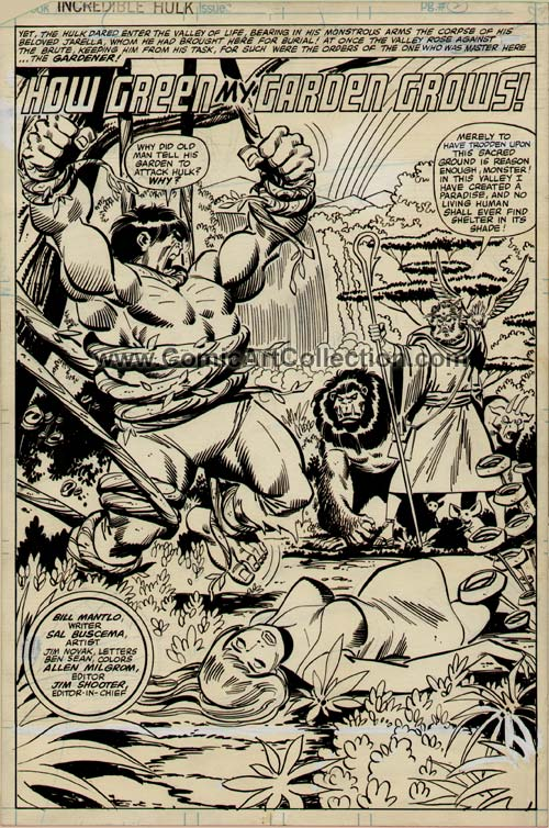 Incredible Hulk #248 page 2 by Sal Buscema