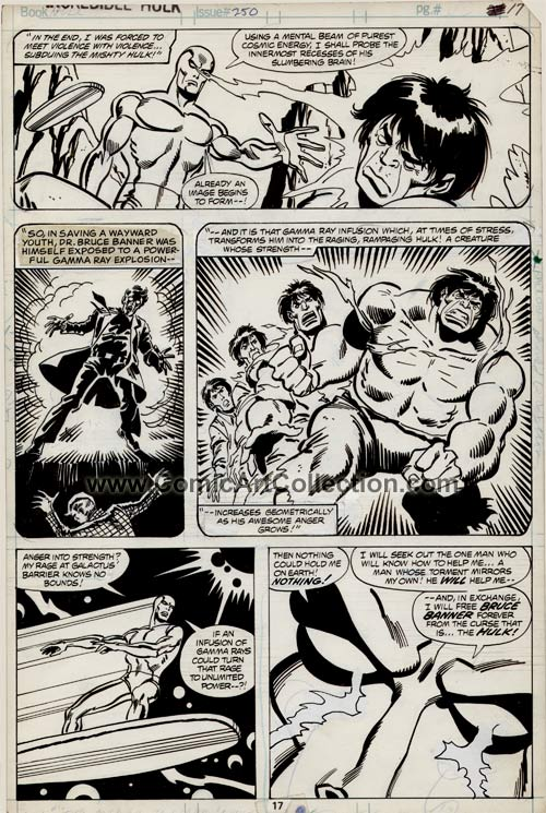 Incredible Hulk #250 page 17 by Sal Buscema