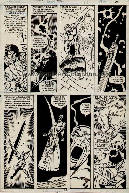 Incredible Hulk #250 page 36 by Sal Buscema