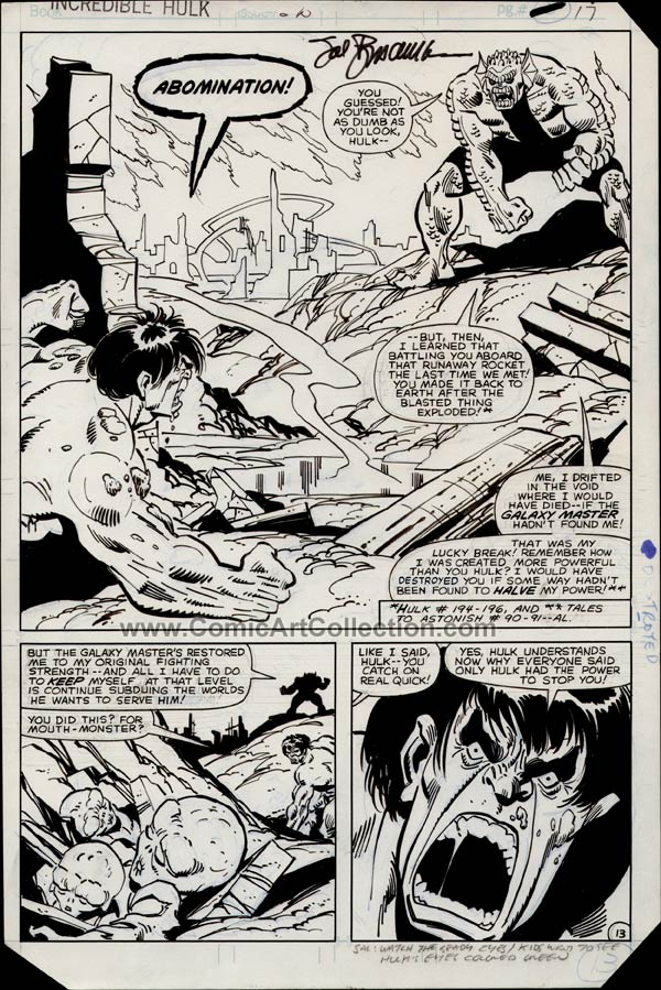 Incredible Hulk #270 page 13 by Sal Buscema