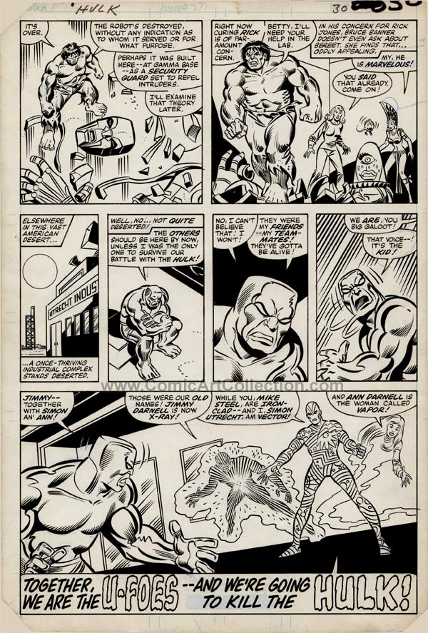 Incredible Hulk #275 page 22 by Sal Buscema / Joe Sinnott