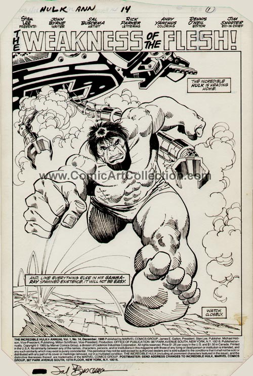 Incredible Hulk Annual #14 page 1 by Sal Buscema