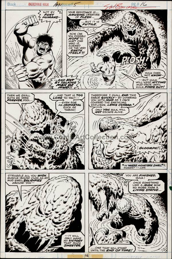 Incredible Hulk Annual #5 page 16 by Sal Buscema / Jack Abel