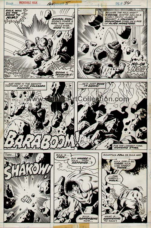 Incredible Hulk Annual #5 page 34 by Sal Buscema / Jack Abel