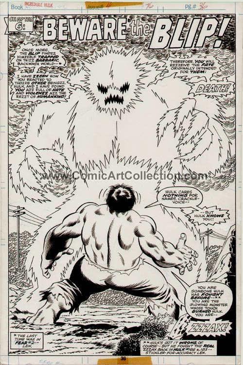 Incredible Hulk Annual #5 page 36 by Sal Buscema / Jack Abel