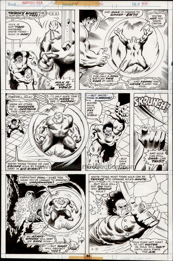 Incredible Hulk Annual #5 page 44 by Sal Buscema / Jack Abel