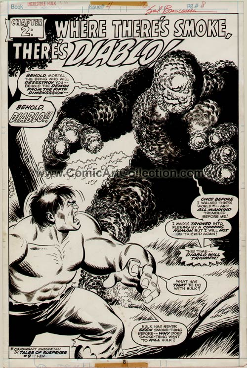 Incredible Hulk Annual #5 page 8 by Sal Buscema / Jack Abel